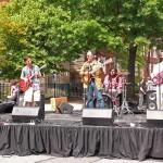 Alegba and his band perform at the Frolic