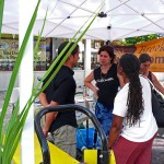 Ramon Cruz, Anne Pope and Rosa Waldron chat