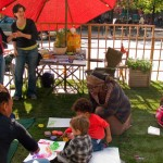 Cortelyou Rd. Park: finger painting action starts!
