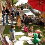 Cortelyou Rd. Park: more kids arrive!