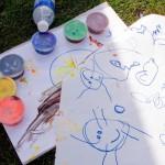 Cortelyou Rd. Park: kid artworks!