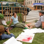 Cortelyou Rd. Park: relaxing for the camera