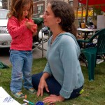 Cortelyou Rd. Park: mother and daughter fun