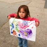 Cortelyou Rd. Park: showing off work of art!