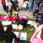 Cortelyou Rd. Park: finger painting fun!