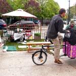 Cortelyou Rd. Park: Bella Bike bikes away