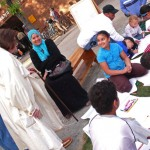 Cortelyou Rd. Park: friendly neighbors meeting each other