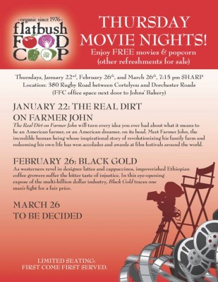 Flatbush Food Coop presents Thursday Movie Nights!